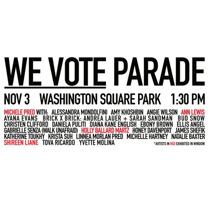 List of Artists participating in We Vote.