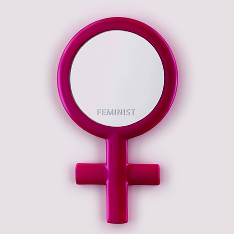 This mirror piece invites the viewer to reflect on being a feminist