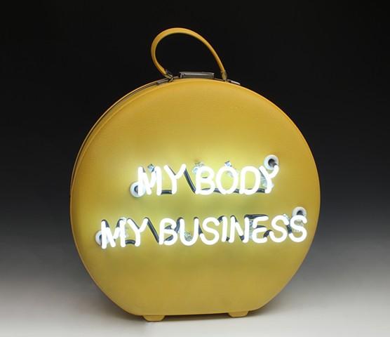 neon, feminist art, pro-choice