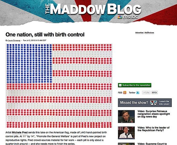 "Rachel Maddow's blog about ""Promote the General Welfare."