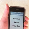 """You Are What You Buy""  One of the hidden messages that appears when you scan my QR Codes."