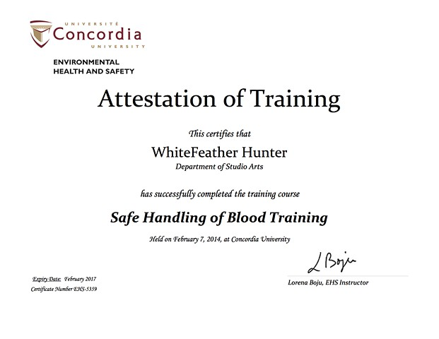 Safe Handling of Blood, Lab Safety Training Certification