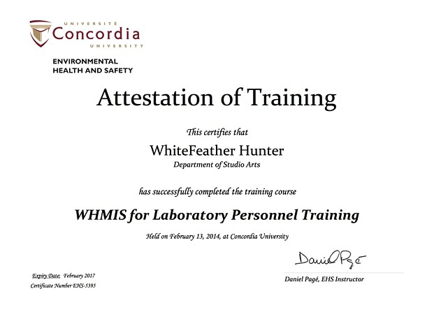 WHMIS for Lab Personnel, Lab Safety Training Certification