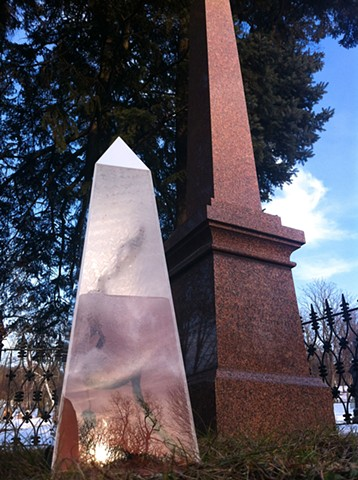 Relic ID # 656-1599, in situ: Mont Royal Cemetery, Montreal, QC