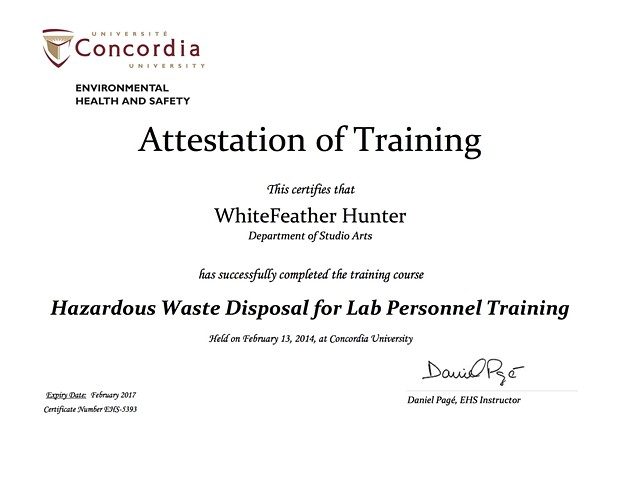 Hazardous Waste Disposal for Lab Personnel, Lab Safety Training Certification