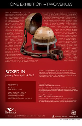 Boxed In! exhibition poster