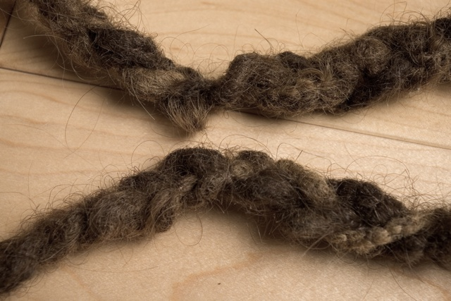 Pull Cord: detail, rope (dreadlocks)