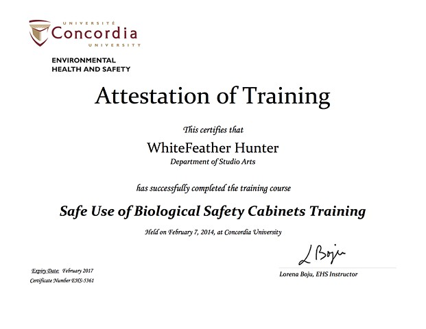 Safe Use of Biological Safety Cabinets, Lab Safety Training Certification