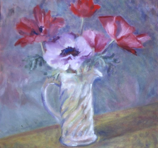 Soft Anemones red and lavender