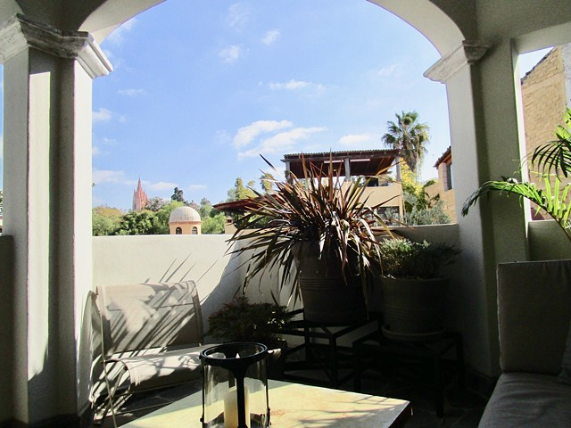 View from a reclining position on the covered terrace