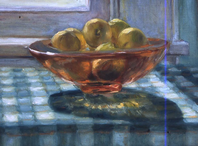 Bowl of Lemons on Table