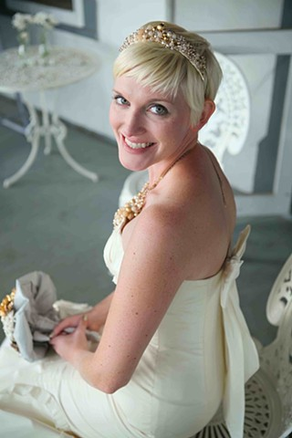 Custom Bridal Headpiece and Necklace