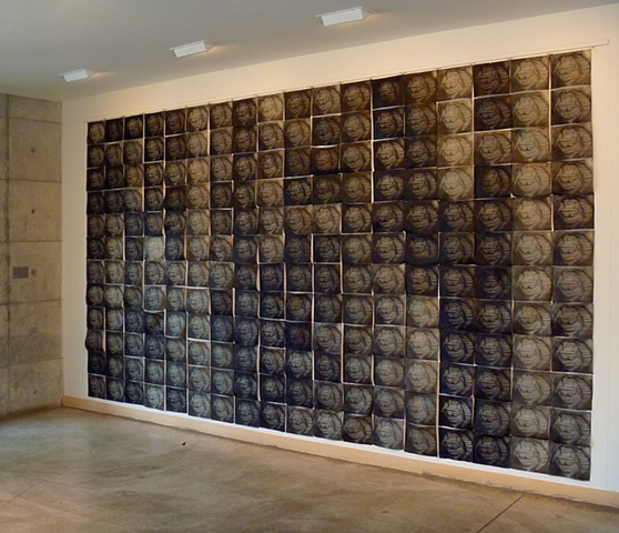 """Casualty"" installed at Mohr Gallery, Community School of Music and Art, Mountain View, CA. April - June, 2012"