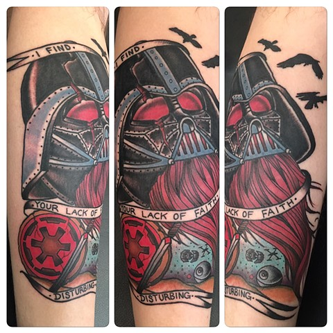 Darth vador viking tattoo