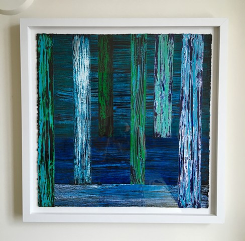 Sold work on paper, example of one of these pieces framed