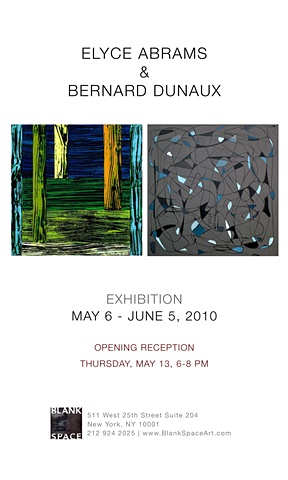 Blank Space Gallery exhibit, May 6 - June 5 Chelsea, NY