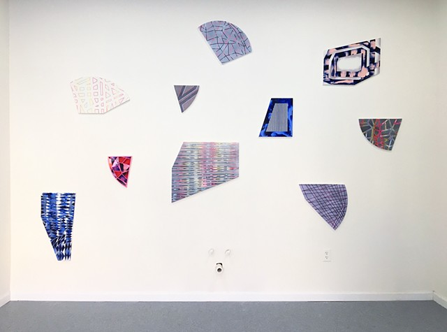Installation shot from solo exhibit, Something New Every Day, NoBA Projectspace, Bala Cynwyd, PA