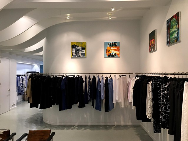 Installation of work at Lie Sangbong Store, NYC