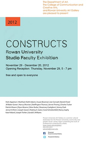 Rowan University Faculty Exhibit November 29  - December 20, 2012 Glassboro, NJ