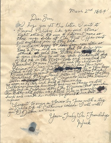 Huck Finn's letter (1864) to Jim