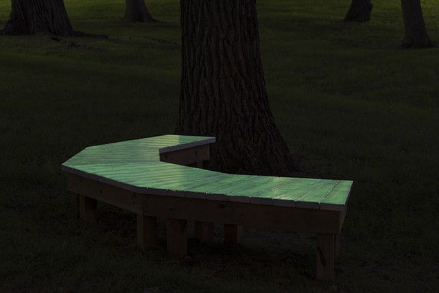 CHIPKO, bench # 4, night photo