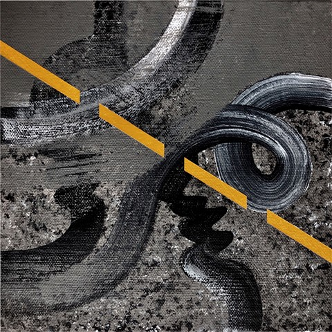 "Road Repairs: ""Conduit"", acrylic painting on canvas"