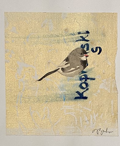 """Chickadee on Gold 1"""
