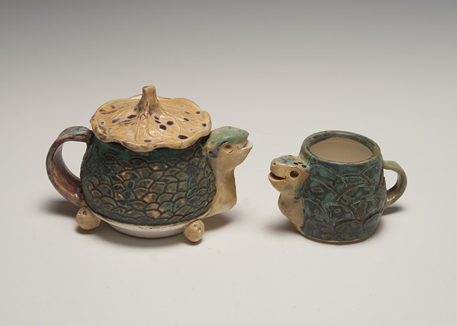 Bill and Cecil Obed Gonzalez, Ceramics II: Throwing Reduction fired Sculptural Tea Set