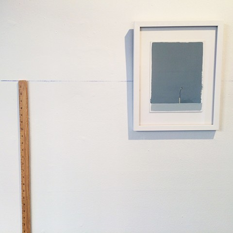 "The Idea of Up (matchstick & 64"" measuring stick) installation shot"