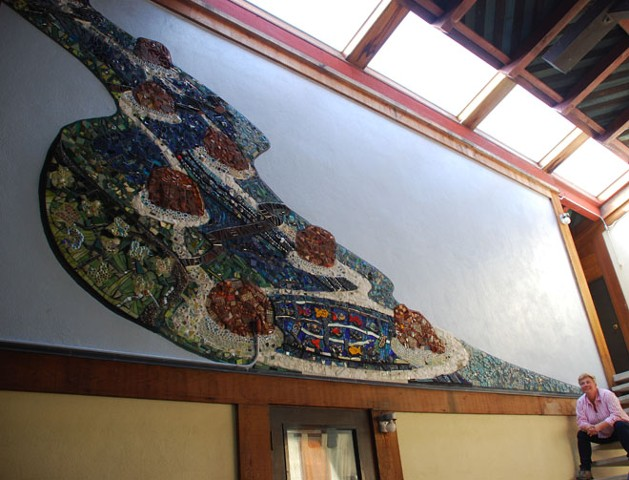 River of Life mosaic mural