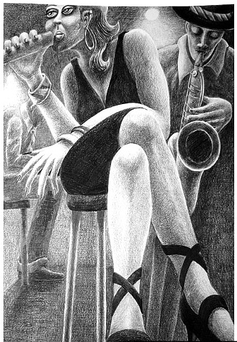 Cabaret Singer drawing