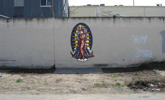 Virgin on Wall