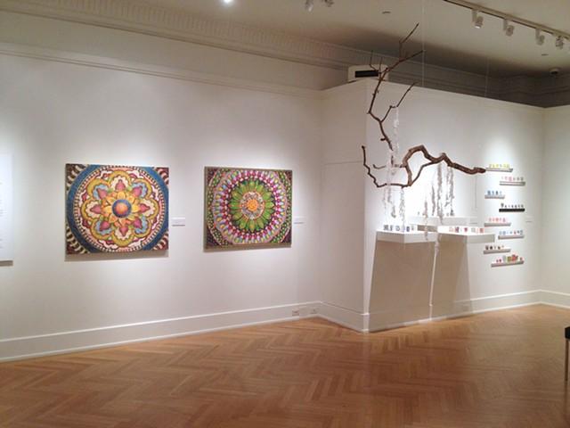 """Stone Canoe editors exhibition, """"Making Their Mark"""" at Palitz Gallery, New York, NY, 2012-13."""