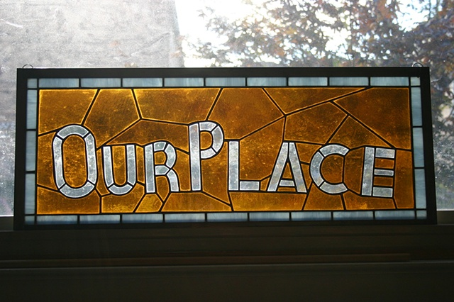 Our Place bar sign