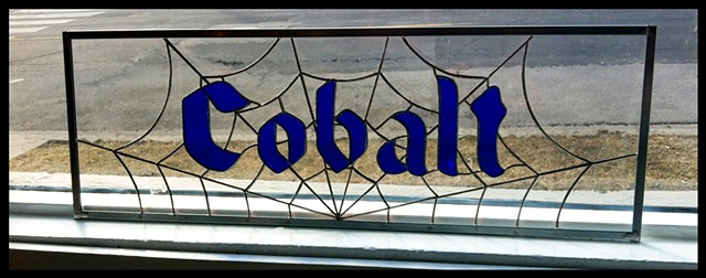 Cobalt transom sign