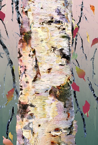 White Birch/Leaf Dance #2