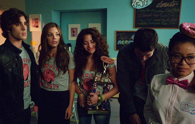 Diego Boneta, Sarah Habel, Inbar Lavi, Jared Kusnitz, and Michelle Ang in Underemployed
