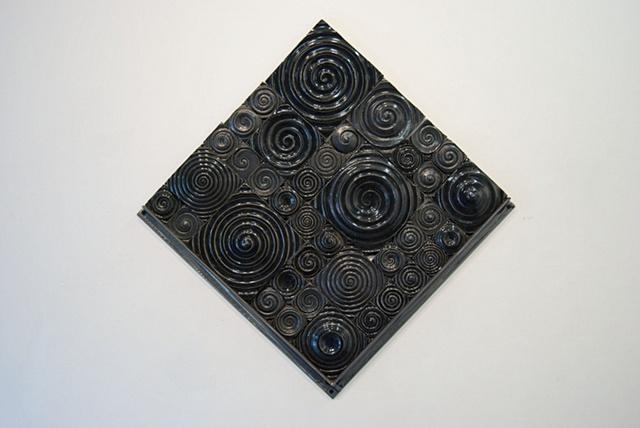 Black spiral sketch