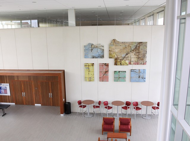 "Installation view, ""Johnson County Geo Logic (Names, Re-Names)"""