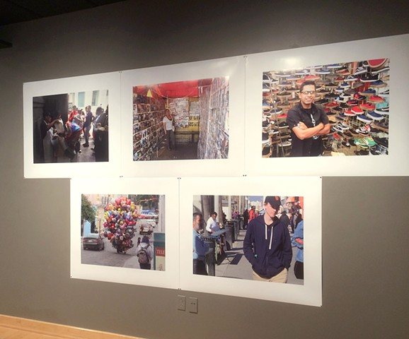 Installation view: Working, Selling, Complying, Avoiding