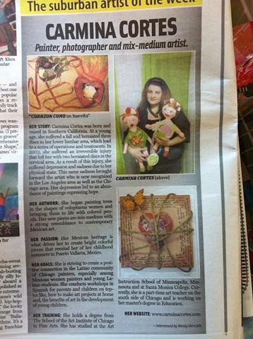 Reflejos Newspaper featured artist