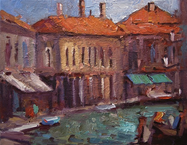 Murano Italy, Murano island, Venice, Paintings of Italy, R. W. Bob Goetting artwork