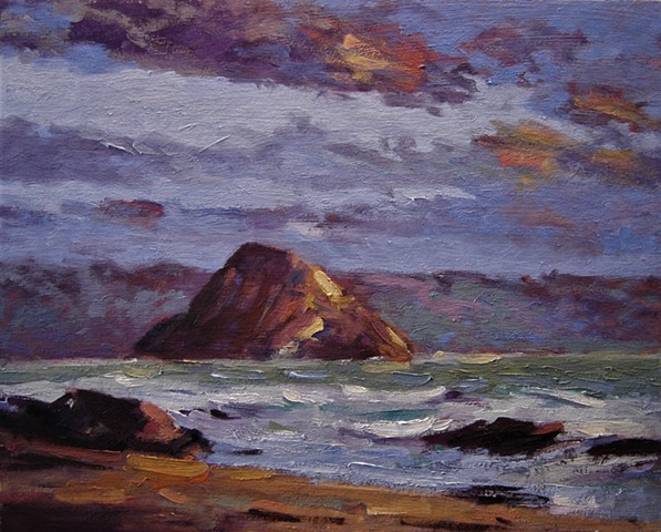 Morro Bay, Morro Rock, Cayucos, Morro Bay California, New artwork, R W Goetting.com, Paintings of Morro Bay, Morro Bay California, artwork of Morro Bay