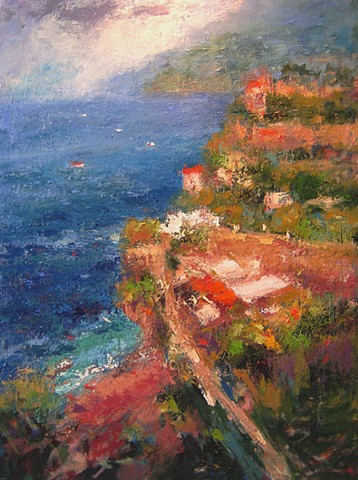 Amalfi, Amalfi Coast, Italy, Paintings of Italy, original oil paintings of Italy