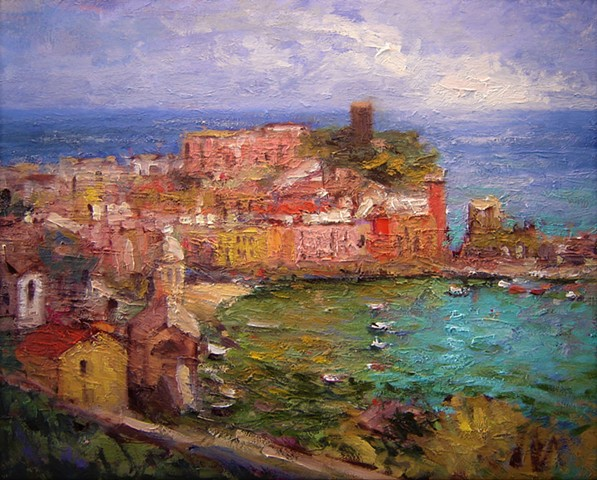 Vernazza, Paintings of Vernazza, Italy, Italian, R. W. Bob Goetting, oil paintings of Vernazza