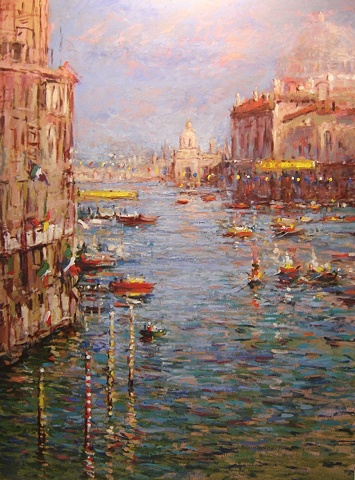Venice Italy, the Grande Canal during the Regatta R W Bob Goetting, french and italian riviera