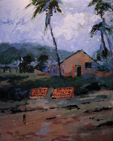 Hawaii, paintings of Hawaii, Oahu, North Shore Oahu, surfing adventures,