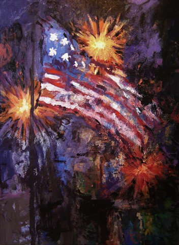 American flag, Stars and Stripes, painting of the American flag, Fort McHenry, Star Spangled Banner