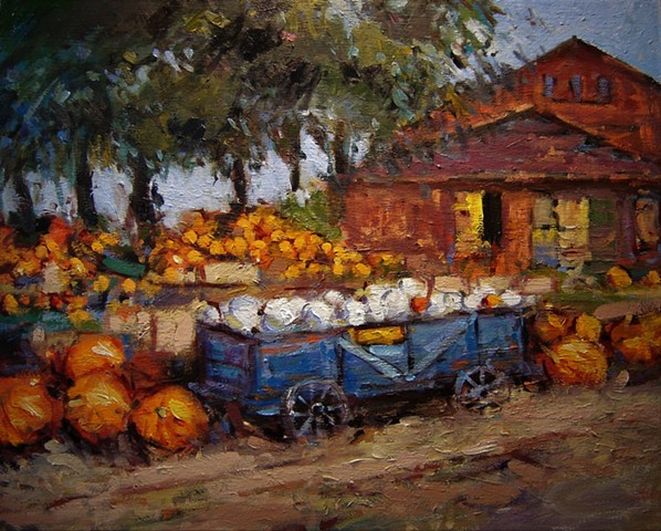 Harvest, harvest time, pumpkins, barn, barn paintings,