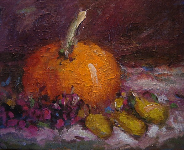 Pumpkin still life, paintings of pumpkins, R. W. Bob Goetting